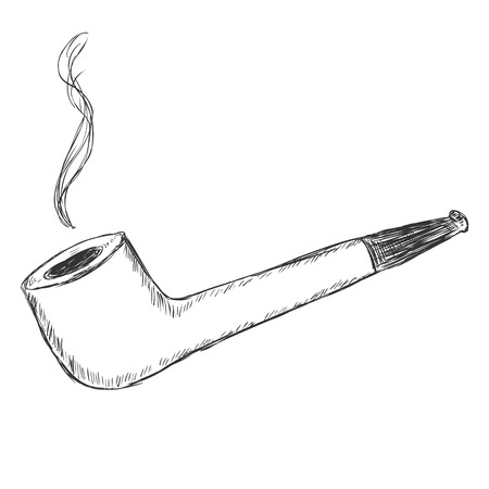 manners: Vector Single Sketch Tobacco Pipe - Liverpool.