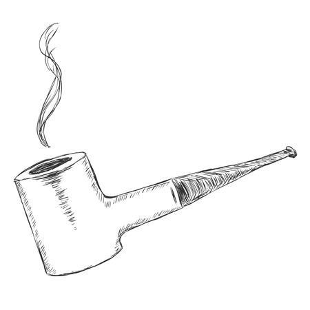 Vector Single Sketch Tobacco Pipe - Poker.