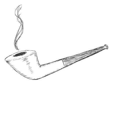 manners: Vector Single Sketch Tobacco Pipe - Dublin.