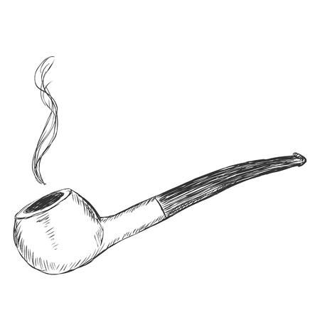 tobacco: Vector Single Sketch Tobacco Pipe - Prince.