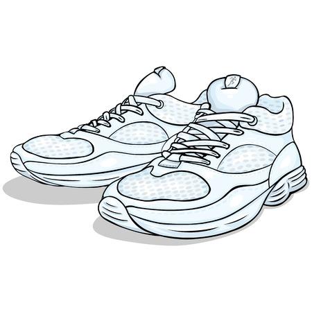 Ilustracion Vectorial De Color De Dibujos Animados Zapatillas Para