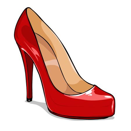 Vector Cartoon Frauen Schuhe auf weißem Hintergrund