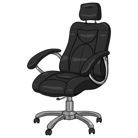 armchair: Vector Single Cartoon Office Armchair on White Background