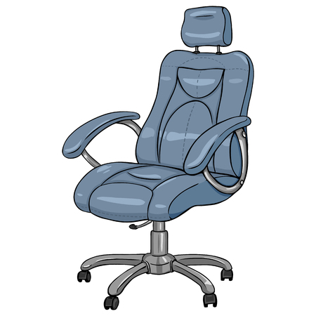 Vector Single Cartoon Office Armchair on White Background