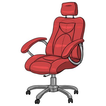 Vector Single Cartoon Office Armchair on White Background