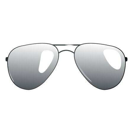 specular: Vector Single Cartoon Sunglasses on White Background
