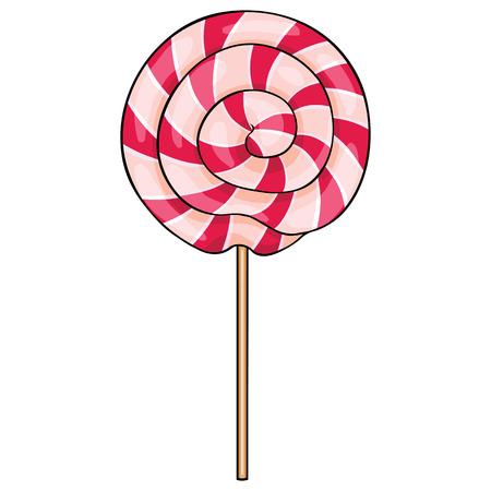 Lollipop dessin animé vecteur tourbillon sur fond blanc Banque d'images - 62951963