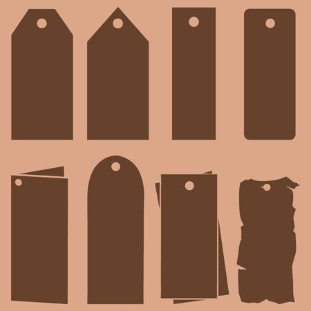blank tag: Vector Set of Blank Tag Silhouettes. Price, Discount and Sale. Tags and Labels.