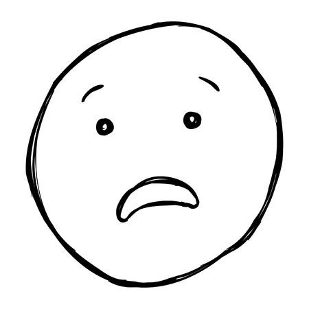 Vector schets single Emoticon op witte achtergrond Stockfoto - 63194578