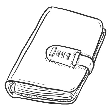 jotter: Vector Single Sketch Diary on White Background