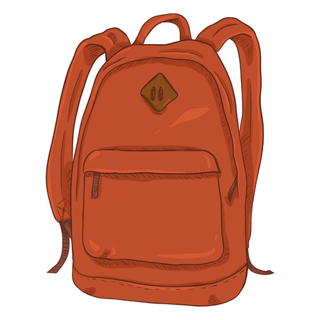 Vector Single Red Cartoon Casual Urban Style Backpack
