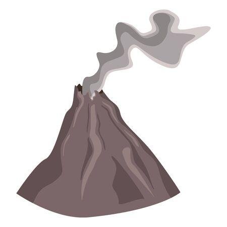 Vector SIngle Color Volcano piatto dopo eruzione