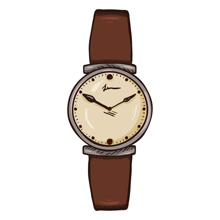 Cartoon Womens Wrist Watch with Brown Leather Watchband