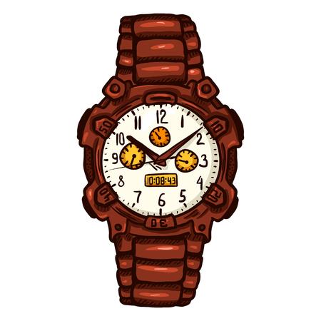 Cartoon Red Modern Mens Wrist Watch