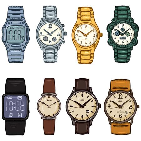 Set van Cartoon kleur pols horloges