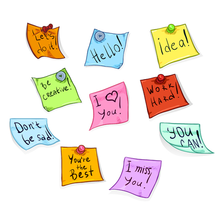 Vector Set Of Cartoon Color Office Stickers With Motivation Phrases Royalty  Free Cliparts, Vectors, And Stock Illustration. Image 76062656.