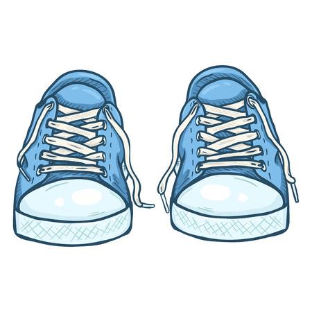 rapping: Vector Cartoon Illustration Illustration
