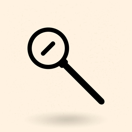 Vector Single Silhouette Icon - Magnifying Glass. Zoom Out Illustration