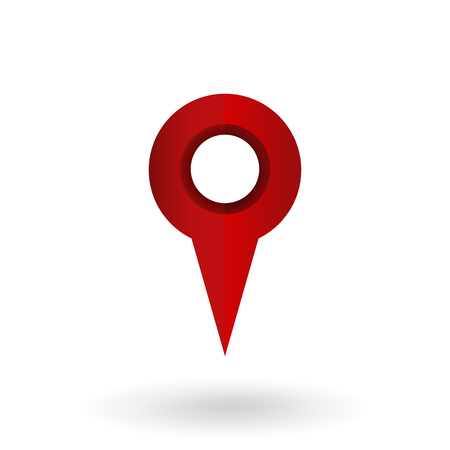 A Vector Single Gradient Red Icon - Map Pointer.