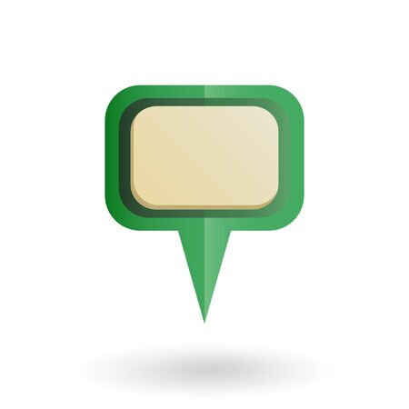 global positioning: A Vector Single Gradient Green Icon - Map Pointer. Navigation Marker with Place for Your Text.