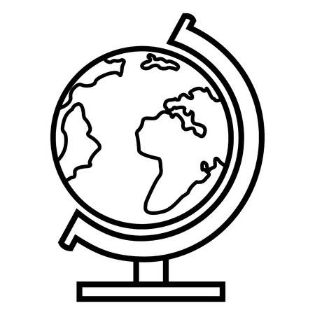 Vector Single Basic Icon - School Geographical Globe