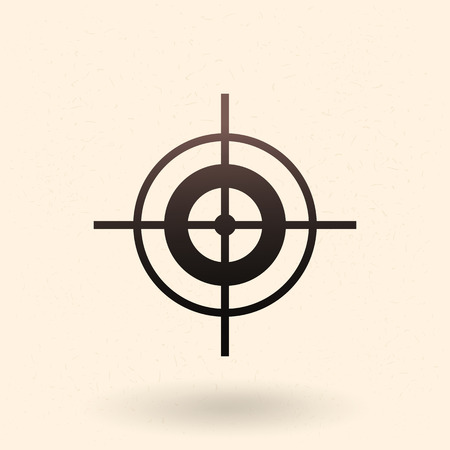 competitions: Vector Black Target Icon on White Background