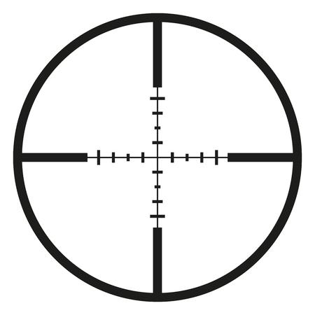 hitman: Vector Black Optical Sight Aim Icon on White Background
