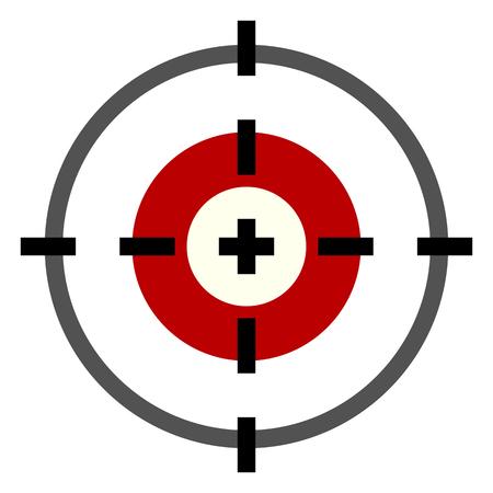 Vector Kleur Flat Target Icon op Witte Achtergrond