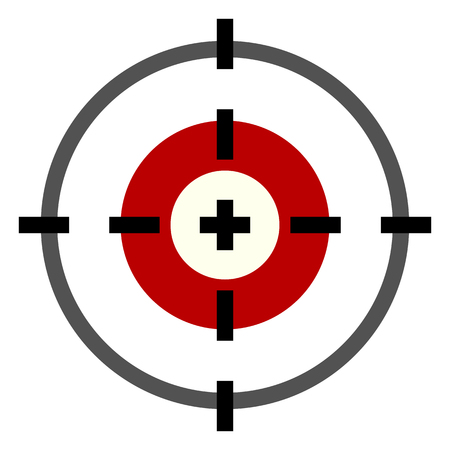 Wektor kolor płaski cel ikona na białym tle