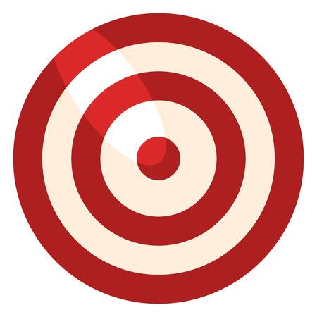 Vector Color plano objetivo icono sobre fondo blanco