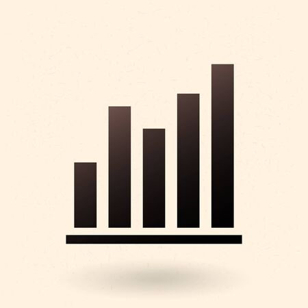 Vector Black Analitic Icon - Graph with Different Columns