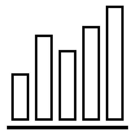 Vector Outline Analitic Icon - Graph with Different Columns