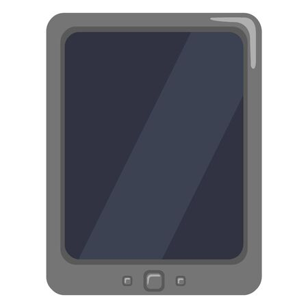 Single Color Flat Icon - Tablet PC