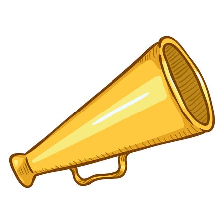 Vector Single Cartoon Illustration - Loudspeaker on Isolated White Background. Color Megaphone Icon