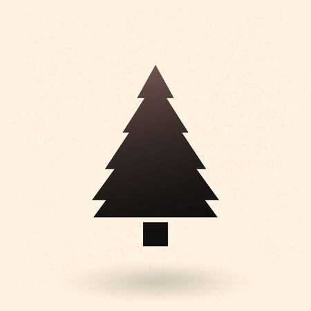 Icône de silhouette noire unique Vector - Pine Tree