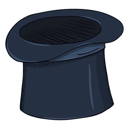 Vector Single Color Dark Blue Cylinder Hat Illustration