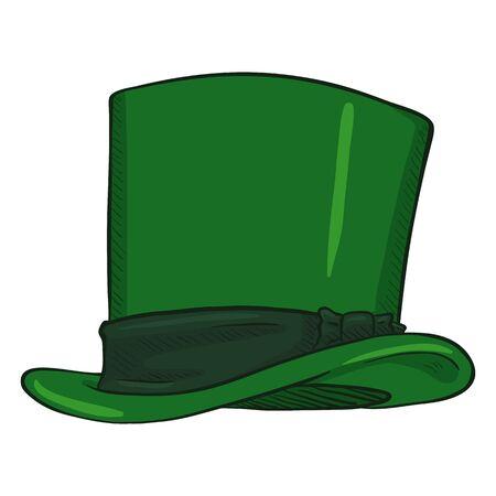 Vector Single Cartoon Classic Green Cylinder Hat