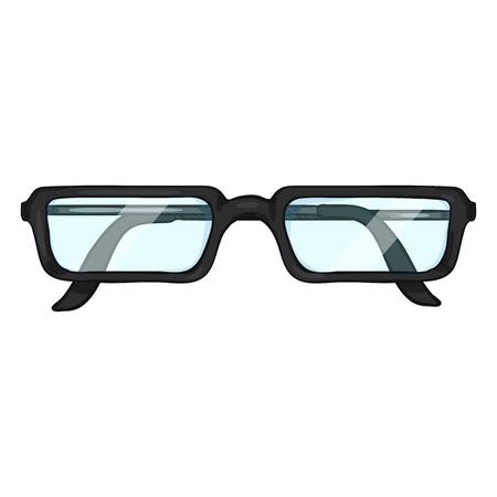 Single Cartoon Glasses for Reading in Black Rim.