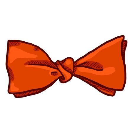 Vector Cartoon Bow Tie. Vintage Fashion Accessory