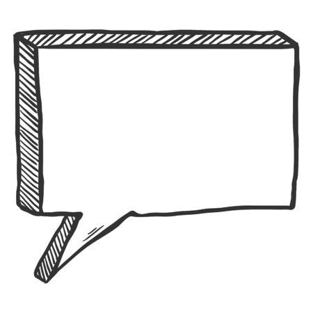 Boceto Vector Comics Bocadillo Ilustración de vector