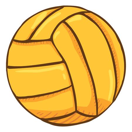 Vector Single Cartoon Yellow Ball for Water Polo