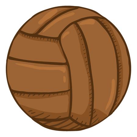 Wektor kreskówka brązowy staroświecki skórzana piłka do siatkówki Ilustracje wektorowe