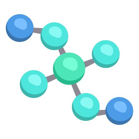 Vector Single Color Flat Molecular Network Icon