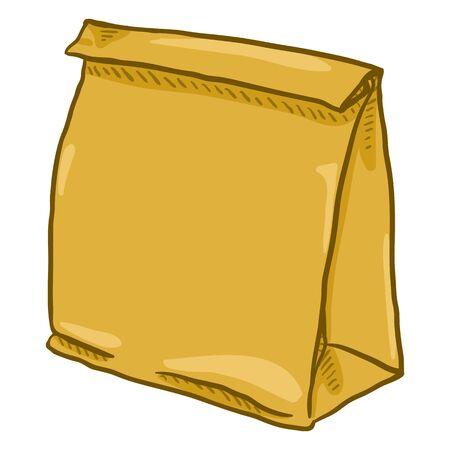 Closed brown paper bag illustration Illustration