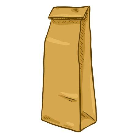 Brown narrow paper bag illustration Illustration