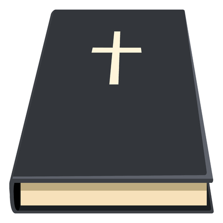 Vector Holy Bible Flat Icon. Christian Book Pictogram.