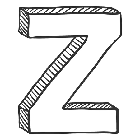 Vector Doodle Sketch Illustration - The Letter Z