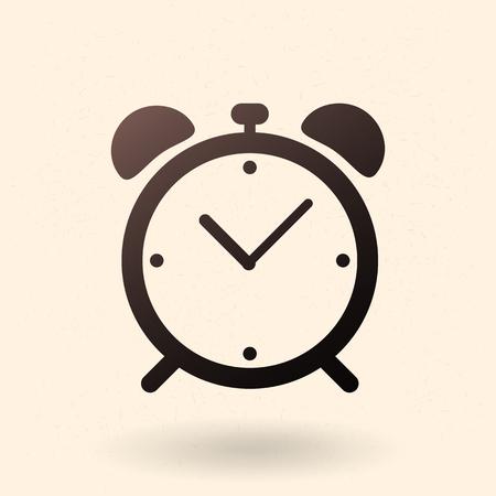 Single Black Silhouette Icon - Alarm Clock
