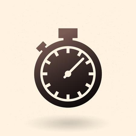Single Black Silhouette Icon - Stopwatch