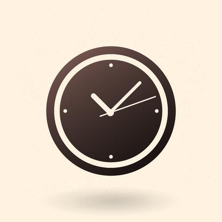 Single Black Silhouette Icon - Round Wall Clock